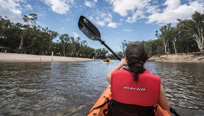 Kayak along the tranquil Edward River